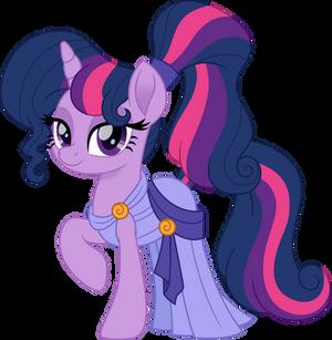 Twilight Sparkle as Megara no glasses