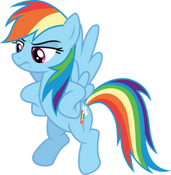 Disapproving Rainbow Dash by CloudyGlow