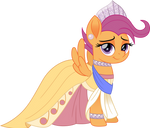 Scootaloo as Anastasia by CloudyGlow