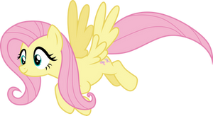 Lovely flying Fluttershy