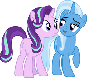 Starlight Glimmer and Trixie 2 by CloudyGlow