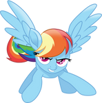 Protective Rainbow Dash