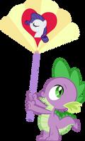Spike holding a fan
