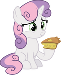 Sweetie Belle with pie