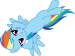 Relaxing Rainbow Dash by CloudyGlow