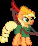 EQG Applejack as Robin Hood