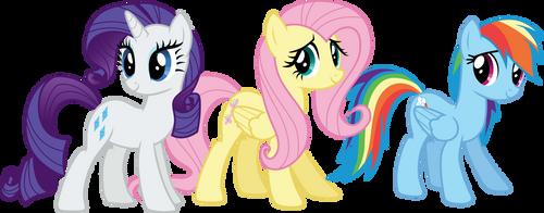 Rarity, Fluttershy, and Rainbow Dash