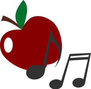 Apple Chord guitar decal