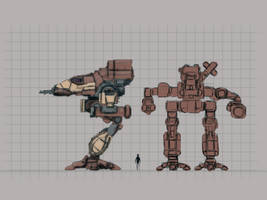 Battletech - Bushwacker redesign v2.0 WIP by Shunuke