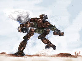 Battletech - Bushwacker - running by Shunuke