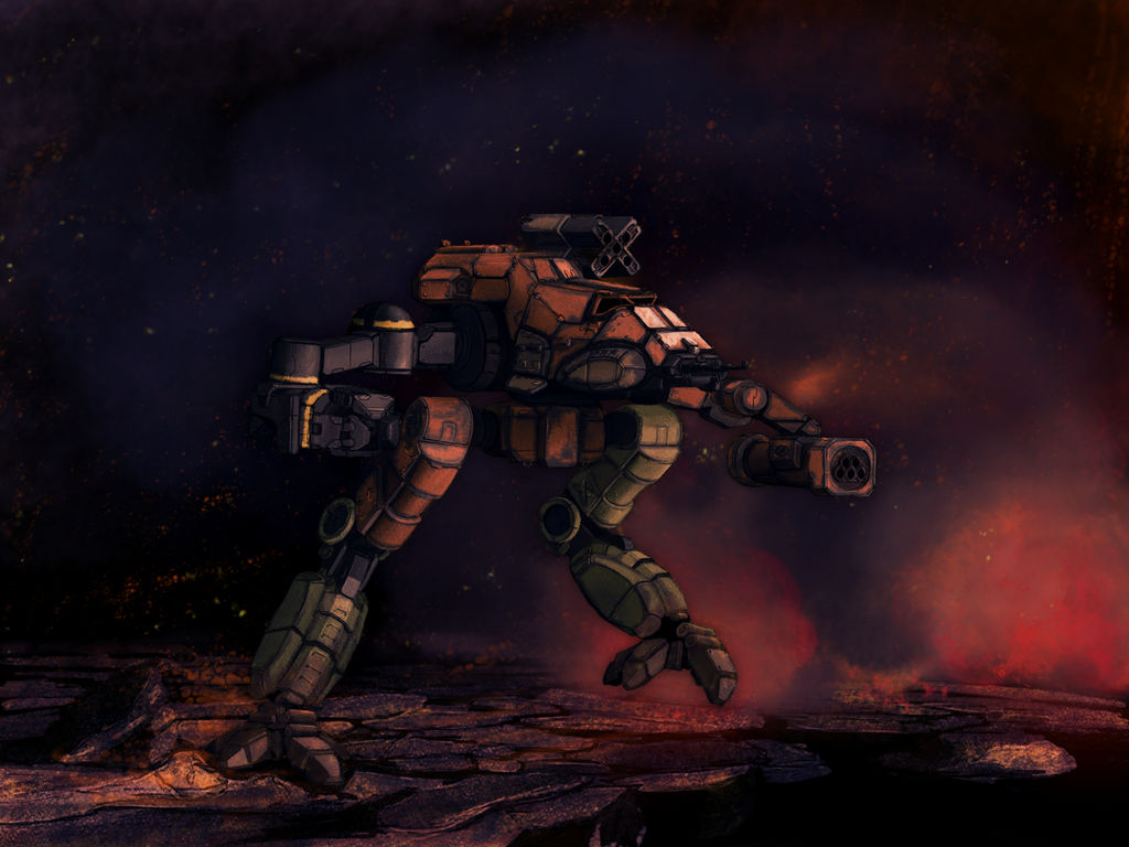 Battletech - Bushwacker - running - redone
