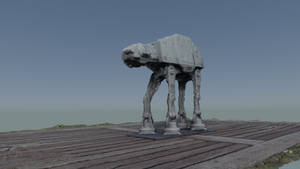 Photogrammetry test - My At-At figurine