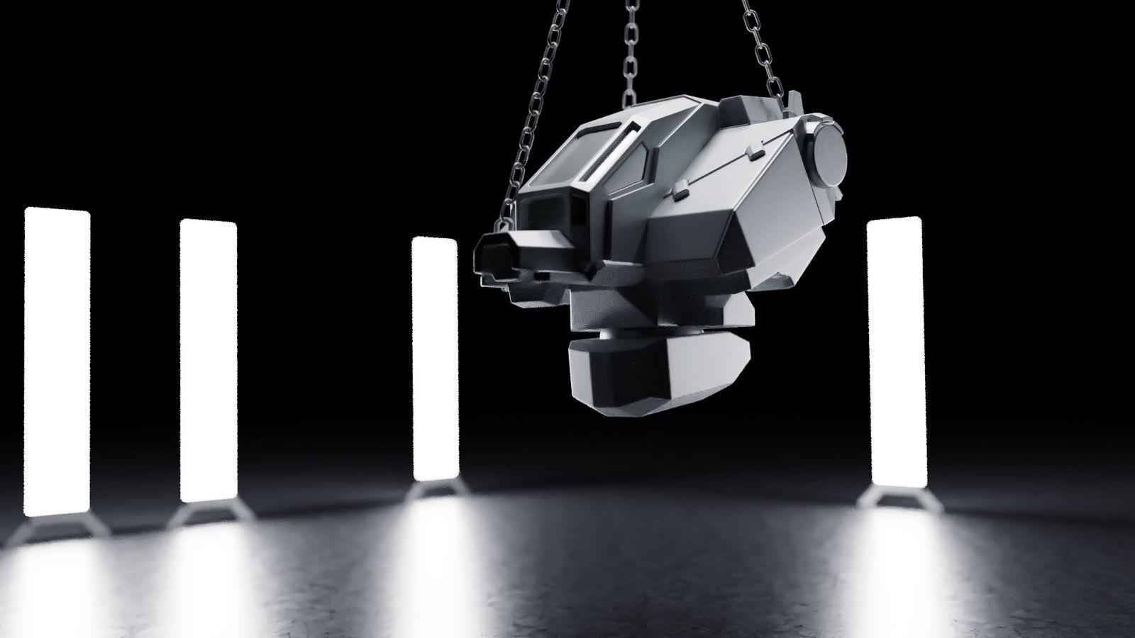 Random Render - wip model of a mech