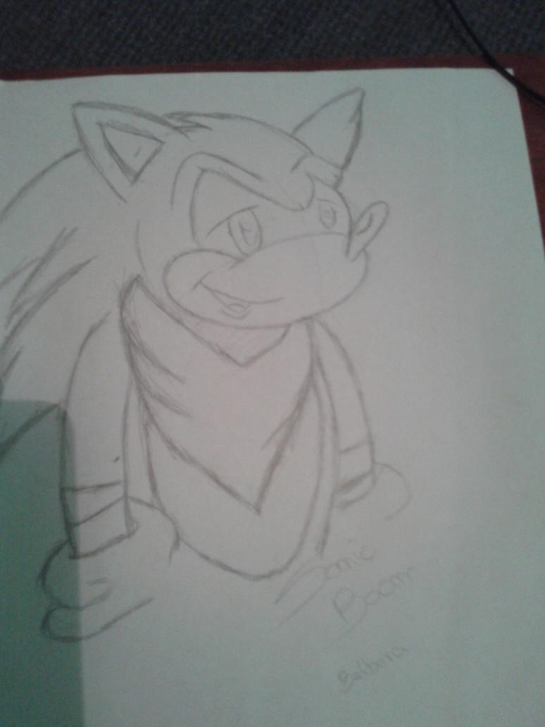 Sonic Boom Sketch by babirox753