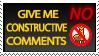 Contructive Comments no llamas by BNMotive
