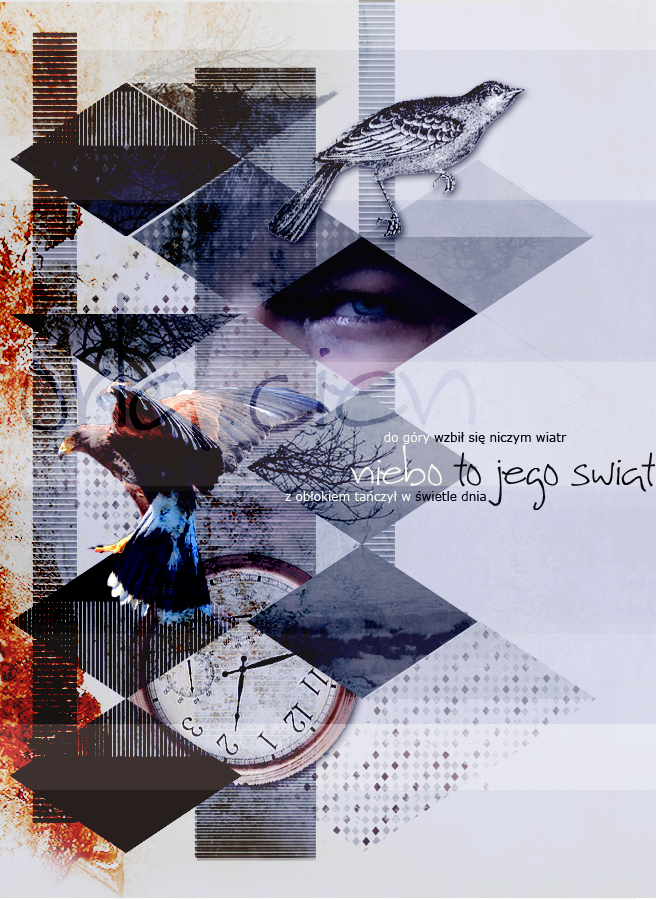 Collage: niebo to jego swiat by stupid-owl