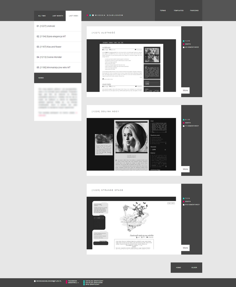 Blogspot template New look by stupid-owl