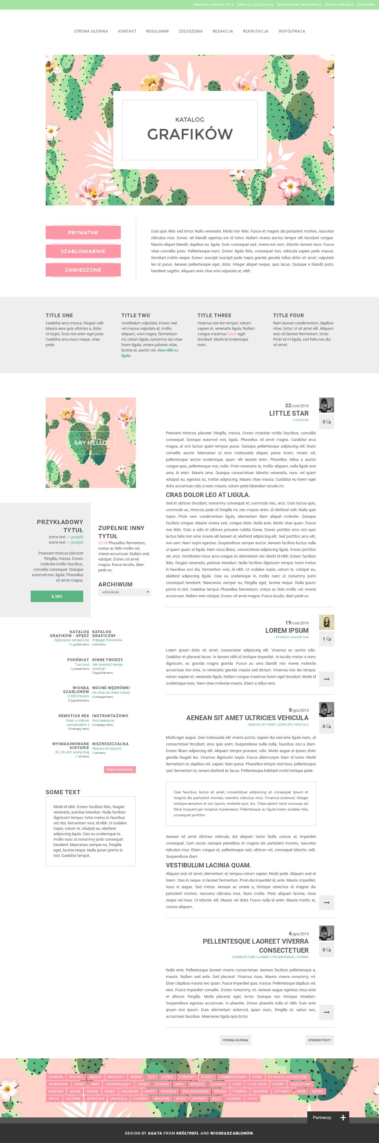 Blogger template Cactus