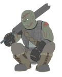 DnD half orc fighter