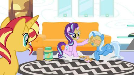 MLP Trixie's peanut butter cracker spa by twilightsparkle0428