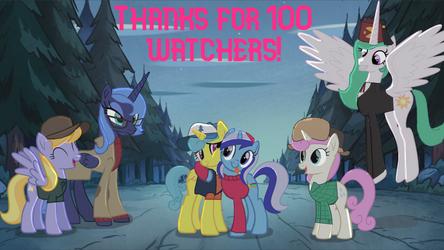 MLP/GF: 100 watcher special by twilightsparkle0428