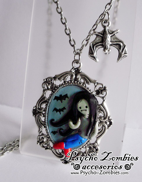 Marceline from Adventure Time cameo Necklace by Initta
