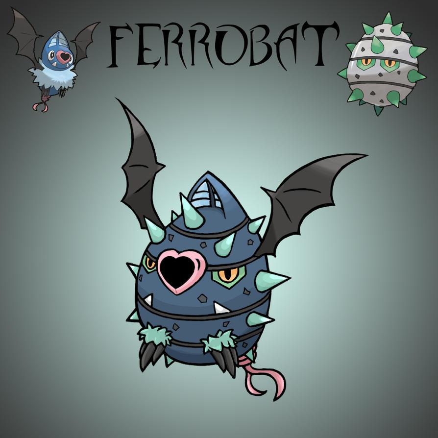 Pokemon Fusion - Ferrobat by fullhex