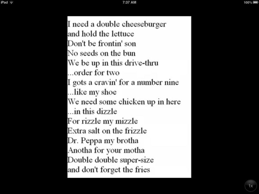 big mac rap lyrics by nicoletheawesomehog on DeviantArt