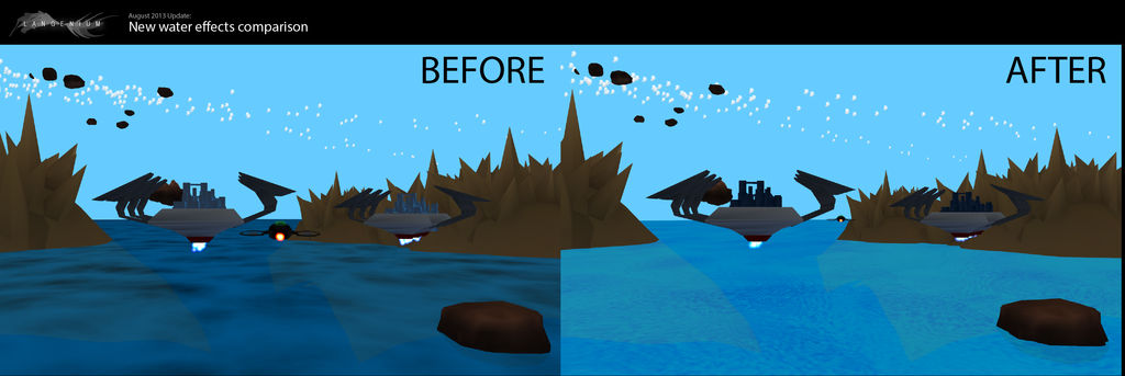 9th of August 2013, Water Effects Comparison
