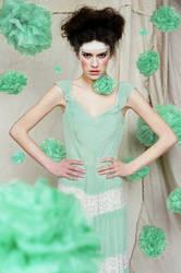 mint green poms