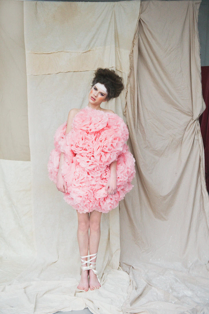 pom pom dress by BEINTAbeinta