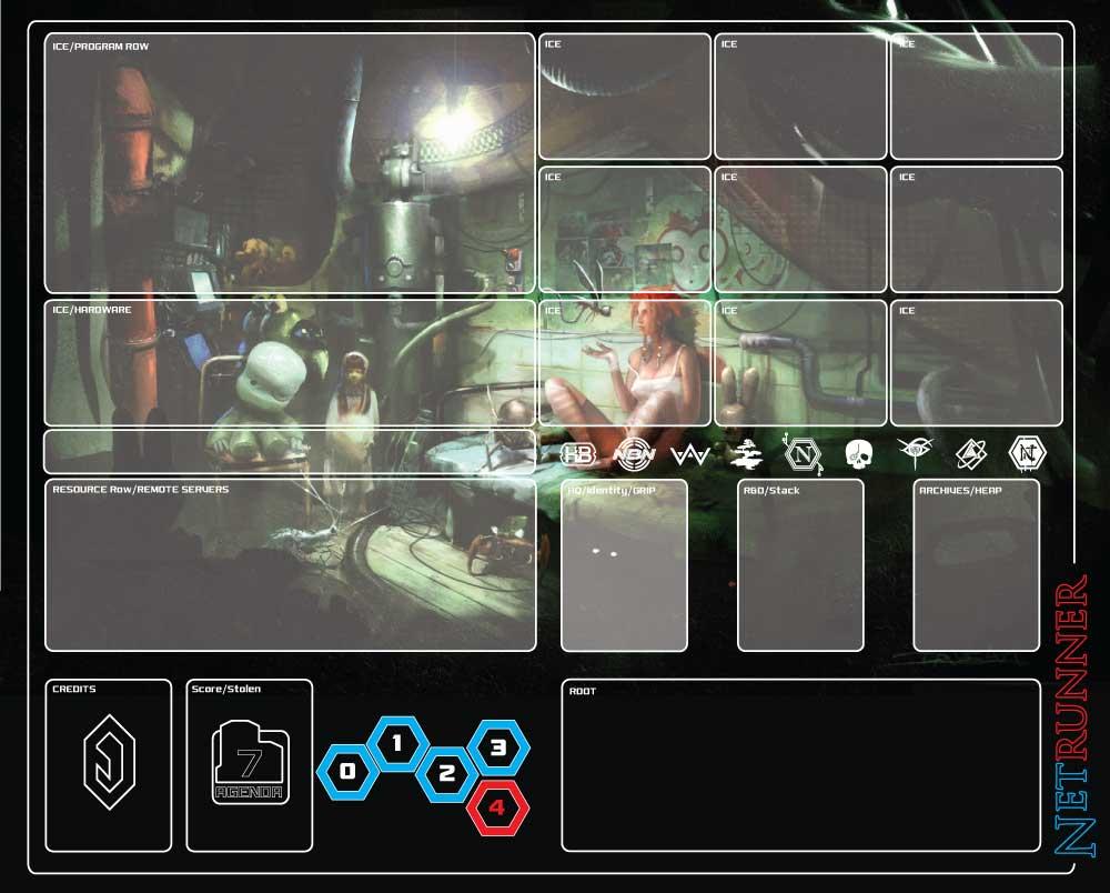 Netrunner Playmat By Gotikhouse On Deviantart