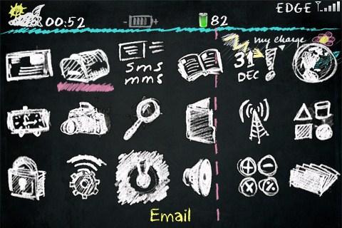 chalkboard theme for blackberry bold9000 by allen6699