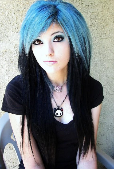 Black And Blue Scene Hair Leda Leda- Blue and Black H...