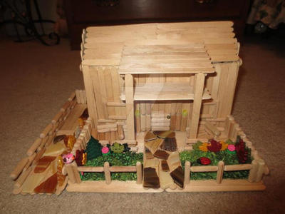 how to make a popsicle stick mansion