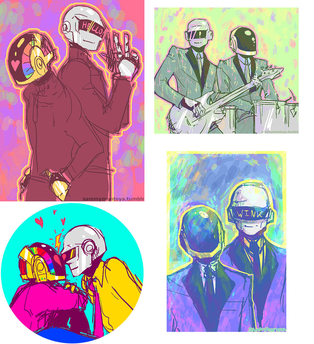 2013 Daft Punk fanart by i-s-p