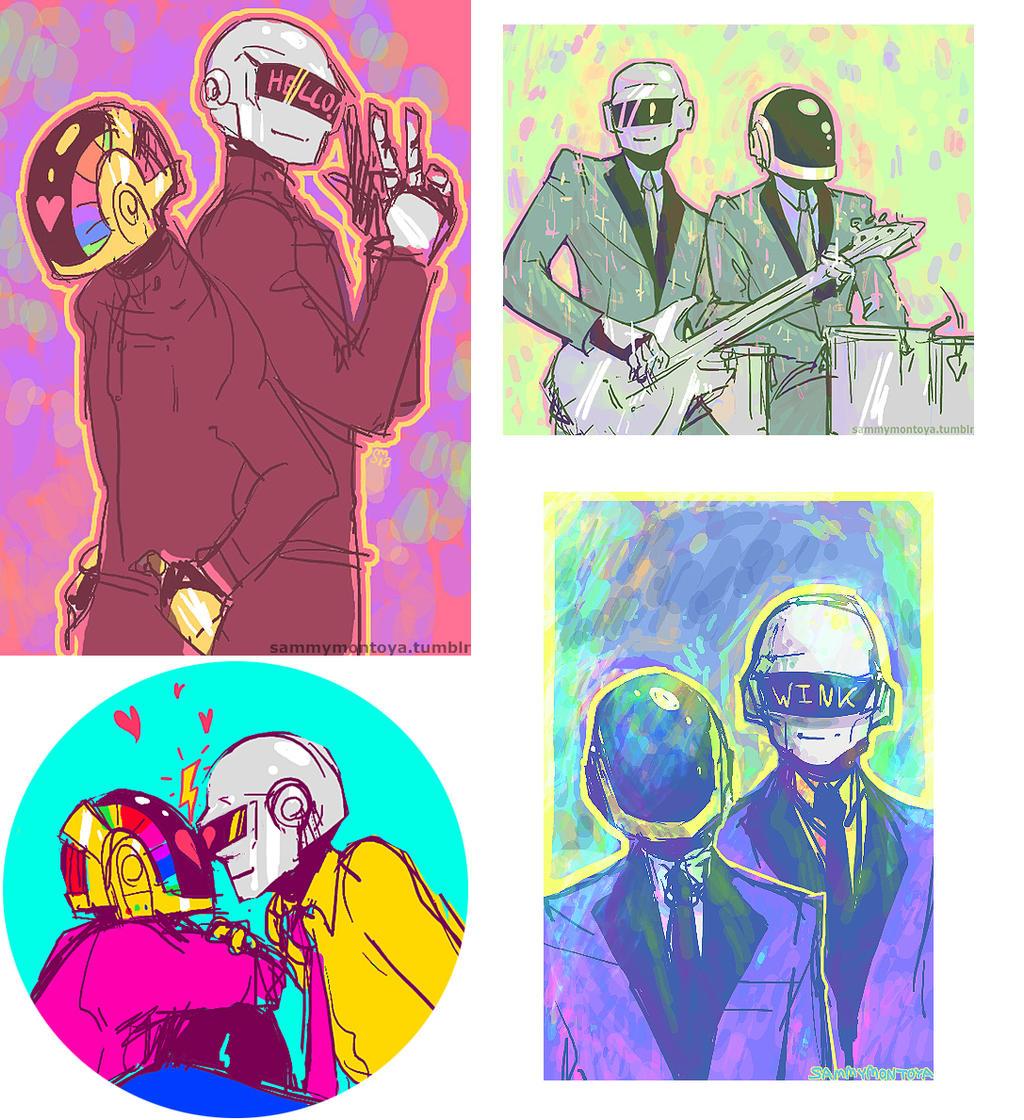 2013 Daft Punk fanart by i-s-p