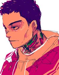 Grumpy super dude
