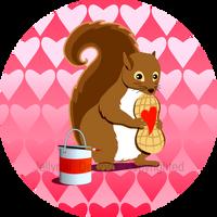 Valentine Squirrel by JellyRollDesigns