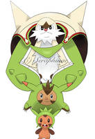 Gen 6 - Chespin Evo Poster by Seraphinae