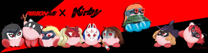 Persona 5 x Kirby by Seraphinae
