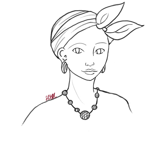 Line Drawing Woman : African woman line art by theangstqueen on deviantart