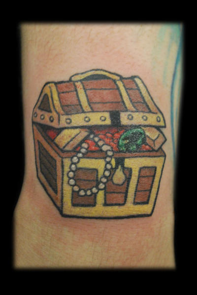 Treasure Chest Tattoo: Corey Tattoo Design: Tattoo Designs By Don Briggs