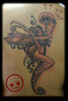 Fairy on Dandelion by Omedon