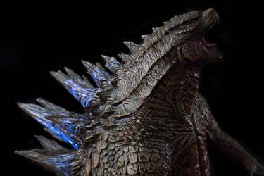 1/100th Scale Godzilla 2014 Statue up close shoot