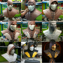 Scorpion life size bust work in process by FritoFrito