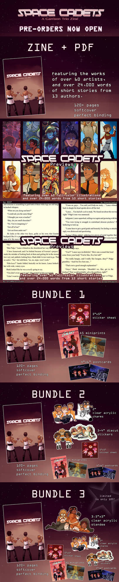 Space Cadets: A Voltron Charity Zine by RobynRose