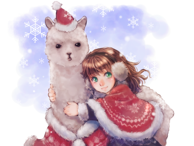 Alpaca Christmas by so-jiro on DeviantArt