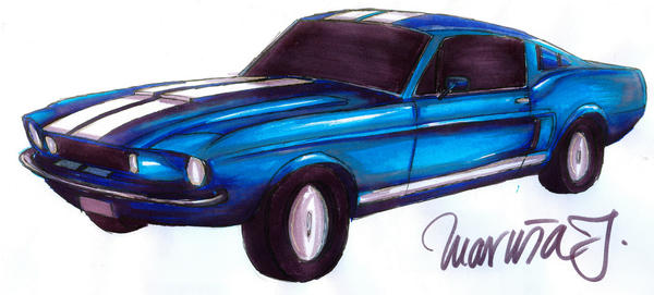 Ford Mustang Shelby GT 350 by DancingHippie