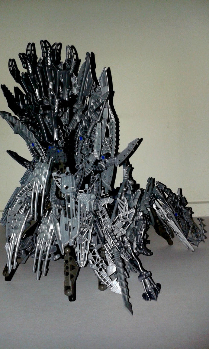 Iron throne back fancy chair bionicle moc by crimson for Buy iron throne chair